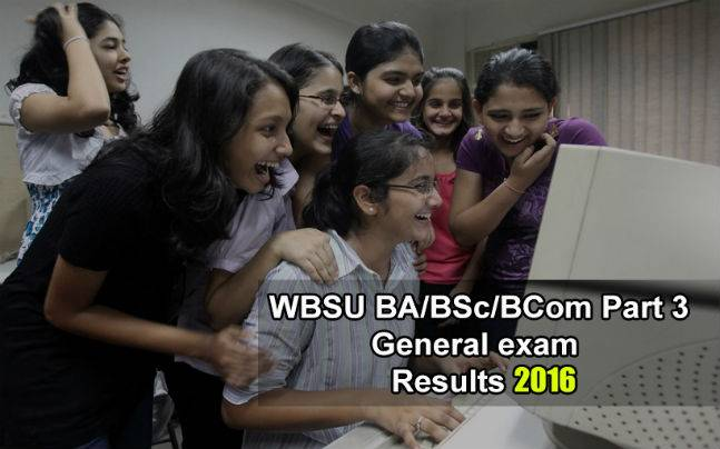 WBSU BA/BSc/BCom Part 3 general exam results announced