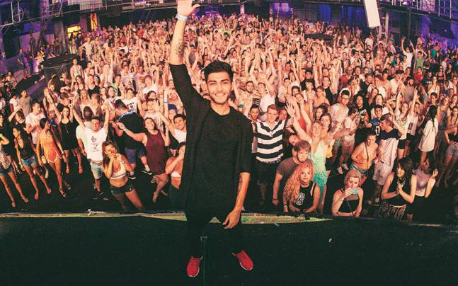 DJ Sahil Sharma at one of his gigs. Picture courtesy: Mail Today