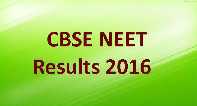 CBSE NEET Results 2016