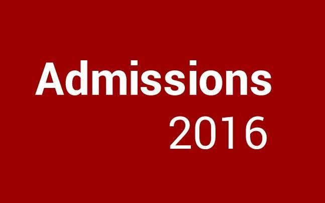 Admissions 2016