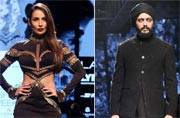 Riteish, Malaika turn showstoppers for designer Shantanu, Nikhil at Lakme Fashion Week