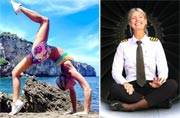 This pilot travels the world and breaks into stunning yoga poses while at it