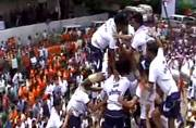 Dahi Handi: MNS workers defy Supreme Court, string up matki over 40 feet in Thane