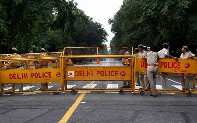 Delhi police has put an unprecedented security cover for Independence Day celebrations.