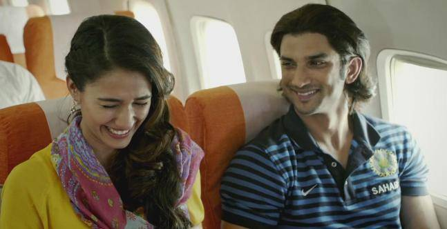 Disha Patani and Sushant Singh Rajput in a still from MS Dhoni: The Untold Story