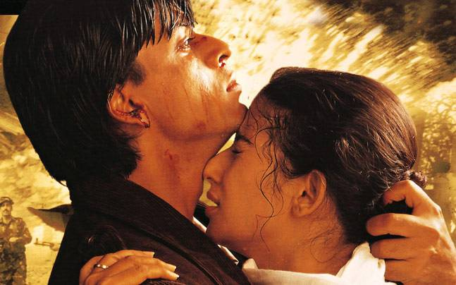 Shah Rukh Khan and Manisha Koirala in Dil Se