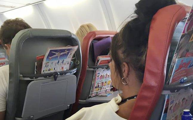 This passenger was not exactly nice about the whole situation. Picture courtesy: Facebook/Nicola Colenso