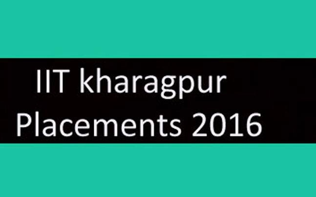 IIT kharagpur Placements 2016