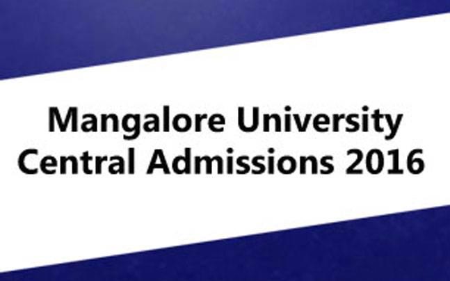 Mangalore University Central Admissions 2016