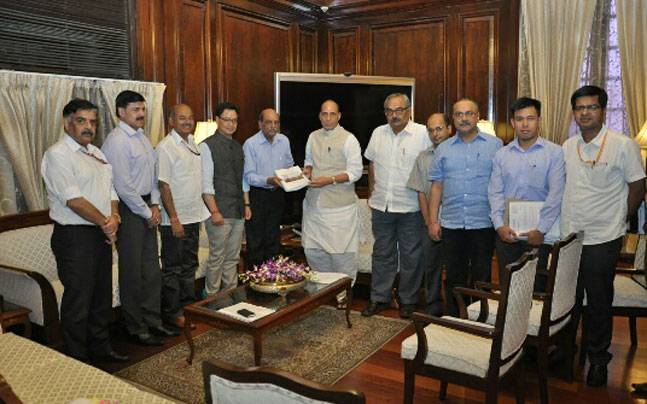 Madhukar Gupta Committee presents its report to Home Minister Rajnath Singh.