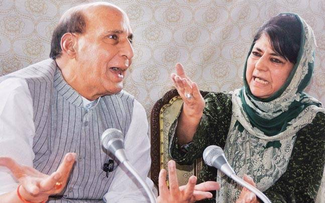 Rajnath Singh and Mehbooba Mufti