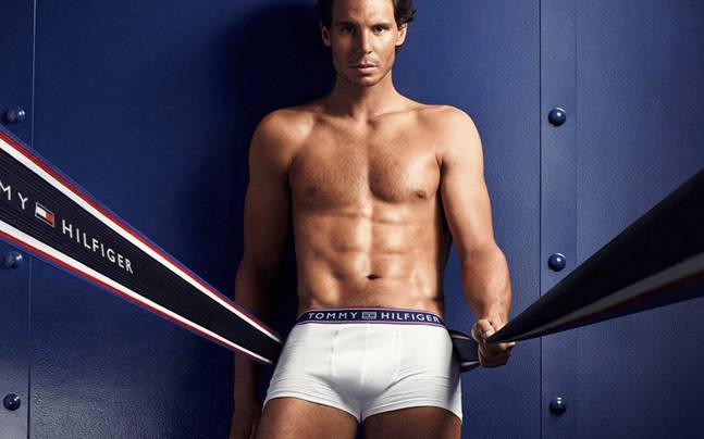Rafael Nadal, just being his hot self. Picture courtesy: tommyhilfiger.com
