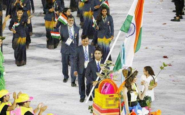 India at Rio opening ceremony