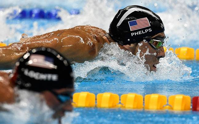 A file image of Michael Phelps and Ryan Lochte. (AP Photo)