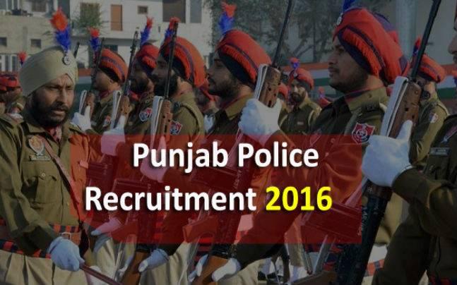 Punjab Police Recruitment 2016