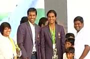 Sindhu, Gopichand thank Telangana government for grand felicitation