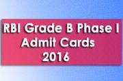 RBI Grade B General Phase I 2016: Admit cards released at rbi.org.in