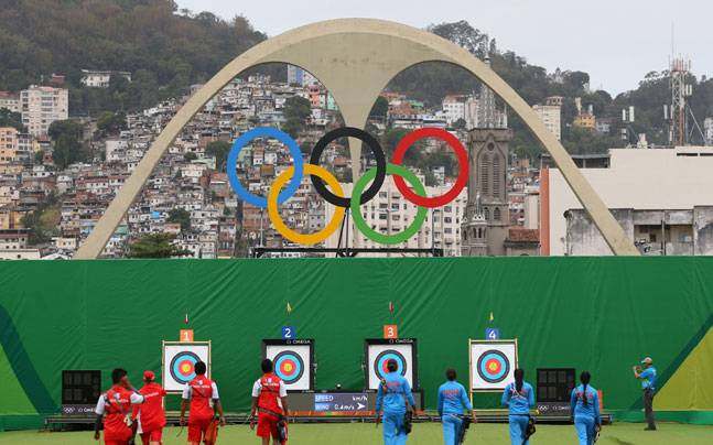 Rio Olympics Archery. Picture credits: Reuters
