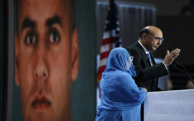 Khizr Khan, who's son Humayun was killed serving in the U.S. Army, speaks at the Democratic National Convention in Philadelphia. (Image: Reuters)