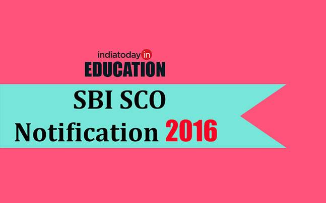 SBI SCO Recruitment 2016