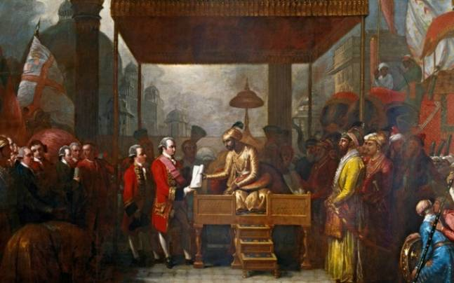 The treaty of Allahabad being signed. Picture courtesy: Wikipedia