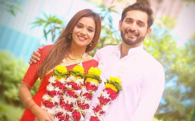 Siddhant Karnick and Megha Gupta got married on August 16. Picture courtesy: Twitter/Hitesh Mangal
