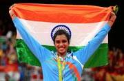 PV Sindhu offers prayers at famous Mahakali Temple in Hyderabad