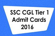 SSC CGL Tier 1 2016: Information regarding the admit cards