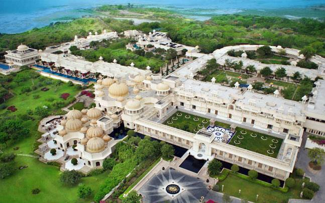 A bird's eye view of The Oberoi Udaivilas. Picture courtesy: Oberoihotels.com