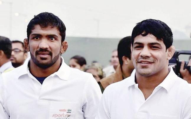Yogeshwar Dutt and Sushil Kumar