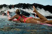 Say hello to Alison Teal, first woman to surf at the base of an active volcano