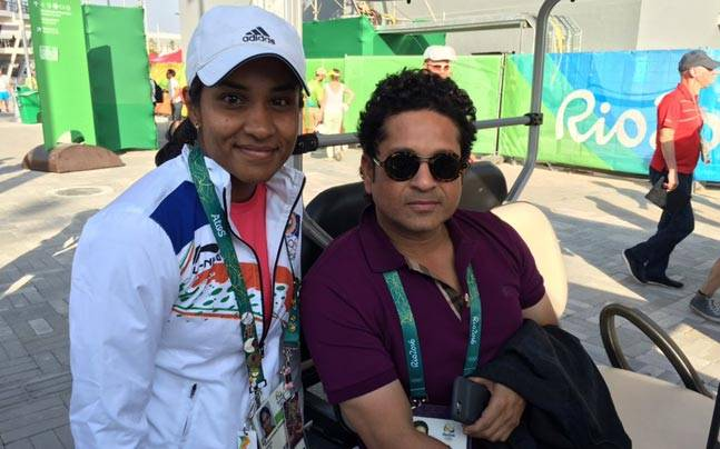 Sachin Tendulkar and Prathana Thombhare
