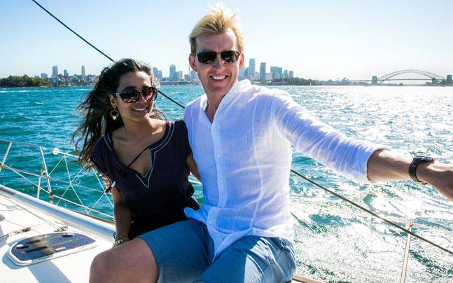 Brett Lee and Tannishtha Chatterjee make a great pair.