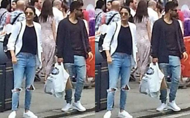 Virat and Anushka spotted in London