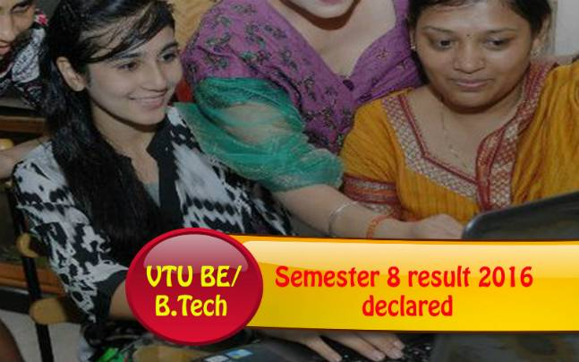VTU BE/ B.Tech semester 8 result declared