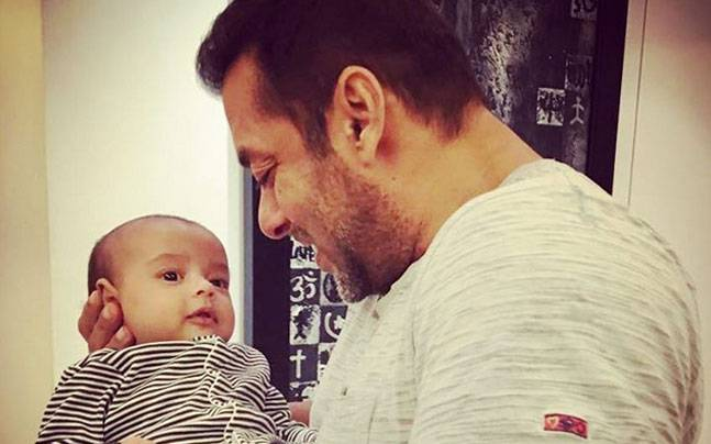 Salman's nephew Ahil Sharma was also present at the launch. Picture courtesy: Instagram/@arpitakhansharma