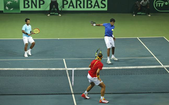 Leander Paes and Saketh Myneni