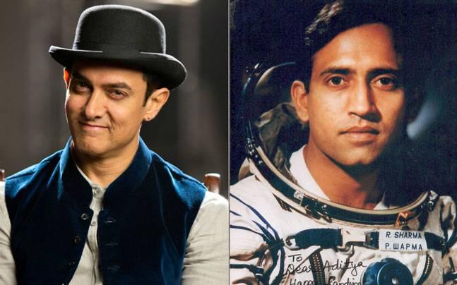 (L to R) Aamir Khan, Rakesh Sharma