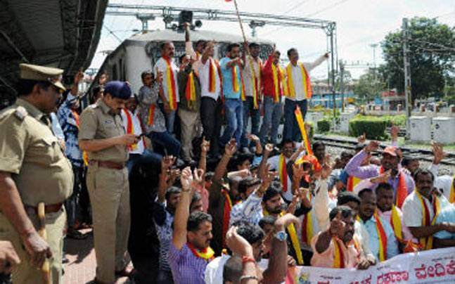 The BJP protest against erratic law and order in Tamil Nadu