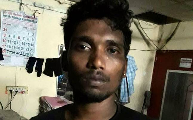 Accused chain snatcher Meenkulambu Karthi.