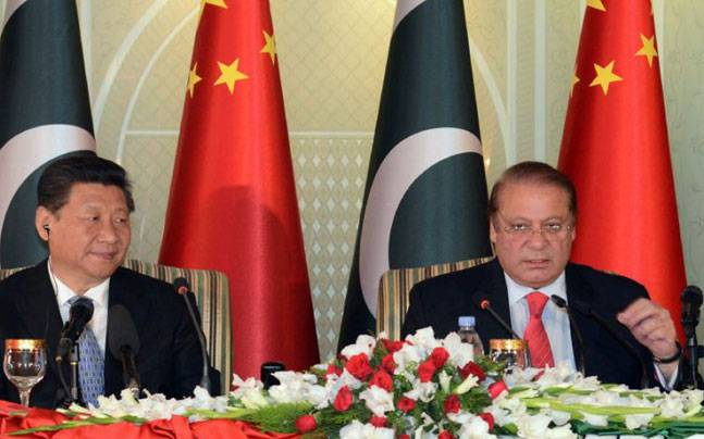 Chinese President Xi Jinping with Nawaz Sharif