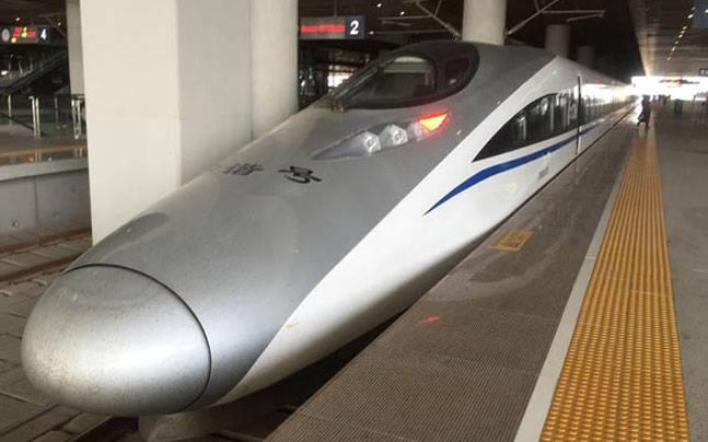 A bullet train, China