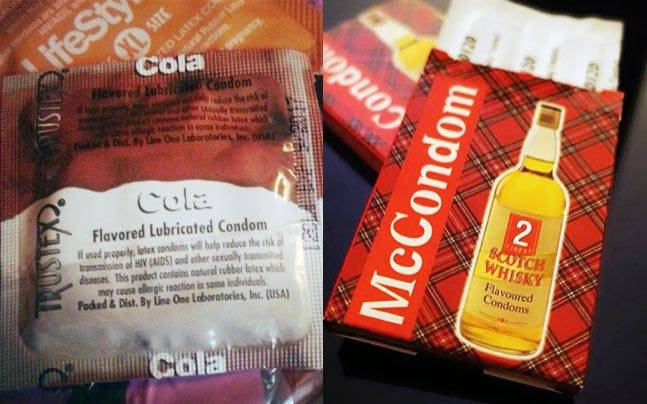 Cola/Whiskey condoms, anyone? Pictures courtesy: Instagram
