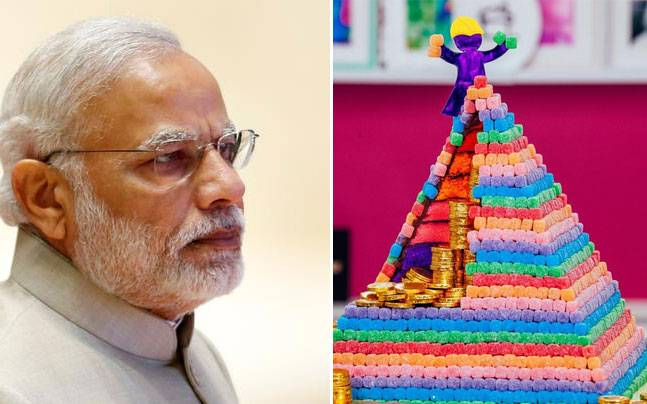 A giant cake pyramid will be created tomorrow to mark the Indian PM's 67th birthday. Picture courtesy: Reuters/Instagram/yolanda_gampp