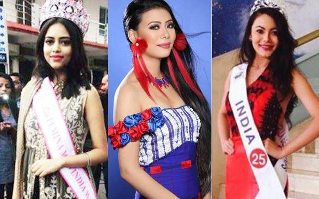 Priyadarshini Chatterjee, Imlibenla Wati and Rewati Chetri will represent India at different international beauty pageants. Picture courtesy: Facebook/ Priyadarshini Chatterjee, Imlibenla Wati and Rewati Chetri
