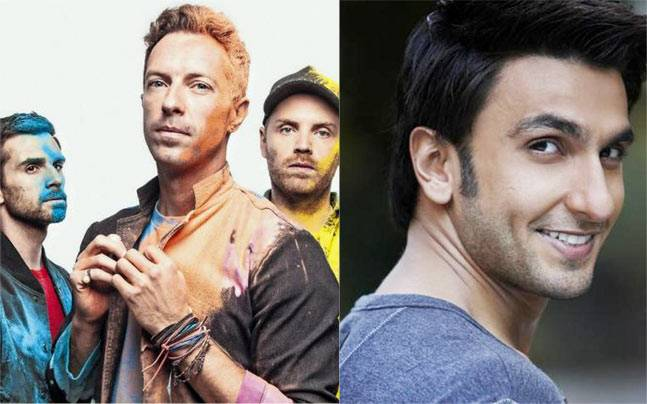 Ranveer Singh on the same stage as Coldplay? Pictures courtesy: Pinterest