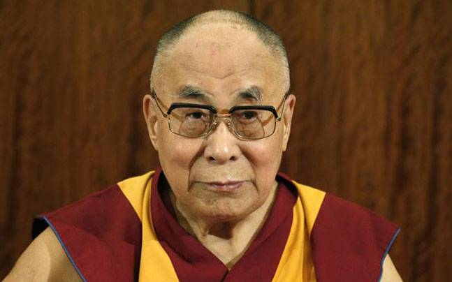 In picture, The Noble Peace Prize Laureate Dalai Lama