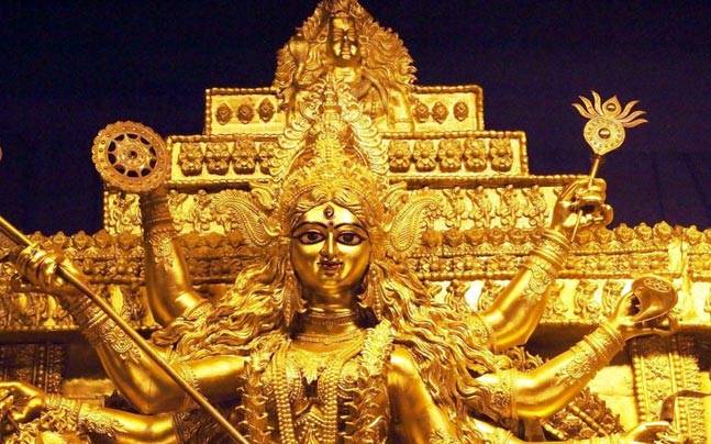 At rs 4 crore worlds most expensive durga idol will adorn a pandal image for representational purposes only picture courtesy twitterranikarlina12 thecheapjerseys Choice Image