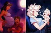 An artist recreated 7 Disney princesses as moms; the results are cute and hilarious
