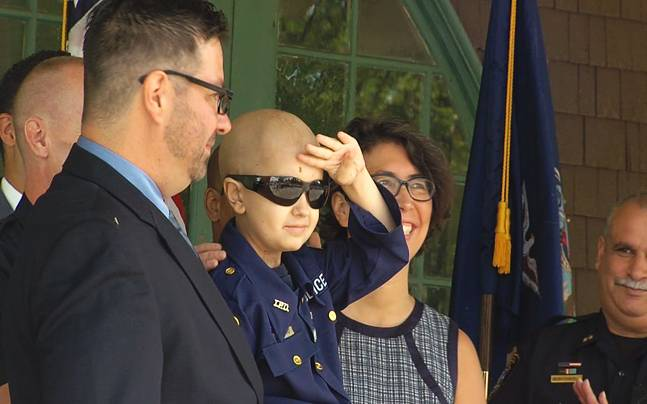 Kid Fighting Cancer Becomes Police Officer